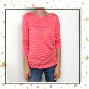 Dana Bachman Pink Ribbed casual sweater top